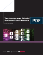 Transforming your Website into a Business-Critical Resource