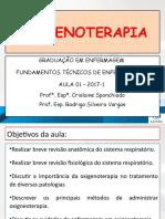 AULA 1 - FUNDAMENTOS TECNICOS - OXIGENIOTERAPIA UNIC 2016-2