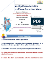Torque - Slip Characteristic of a Three - Phase Induction Machine