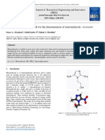 Different analytical methods for the determination of metronidazole –A review