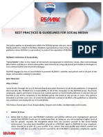 Social Media Best Practices & Guidelines - REMAX SA