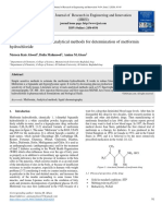 Review on spectroscopic analytical methods for determination of metformin hydrochloride