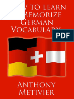 Anthony Metivier How to Learn and Memorize German Vocabulary ..