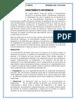 CONSENTIMIENTO INFORMADO, (epidemiologia)