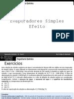 Aula 3 - Evaporadores Simples Efeito
