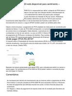Boleto IPVA RJ 2020 está disponível para sentimento » FDR.com.br