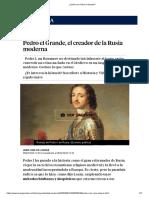 Quién era Pedro el Grande