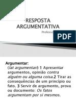 PLANTAO 1 - 01-08 RESPOSTA ARGUMENTATIVA -