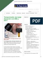 Temporizador de larga duración con 555 y 4017 - Electrónica Unicrom.pdf