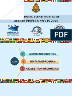 International Events Hosted by Vietnam People's Navy in 2020 Events Brief  (May 2020).