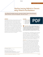 (2018) Applications of Machine Learning Methods to Genomic Selection in Breeding Wheat for Rust Resistance