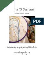 St. Gianna & St. Genevieve / PDF Instant Download Pattern / Hand Embroidered Saint Dolls