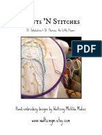 St. Therese & St. Scholastica  / PDF Instant Download Pattern / Hand Embroidered Saint Dolls