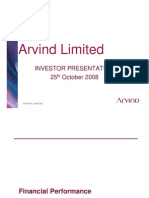 Arvind Mills Investor Present a Ti Ion