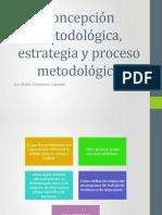 Concepción metodológica (conceptos), estrategia y proceso metodologico
