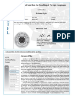 actfl certificate