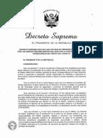 Decreto Supremo que declara Estado de Emergencia Nacional por el COVID 19