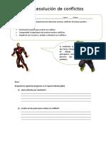 6to A y B Guía resolución de conflictos
