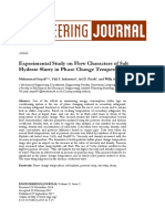 Experimental Study on Flow Characters of Salt Hydrate Slurry in Phase Change Temperature Range