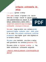 CORTE DE PILA eliminar contraseña  de setup