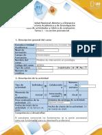 Guía de actividades y rúbrica de evaluación - Tarea 1 - La acción psicosocial.docx