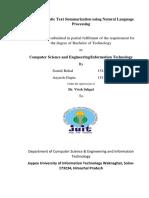 Automatic Text Summarization using Natural Language Processing (1)