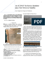 Implementation of 220 kV in-service insulator performance test tower in Namibia