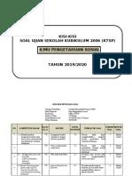 KISI-KISI SOAL IPS US (2006-KTSP)2020