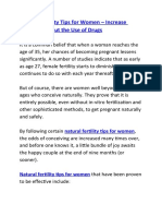 Natural Fertility Tips for Women – Increase Fertility without the Use of Drugs
