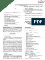 Decreto Supremo Nº 003-2020-De