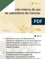 Reglamento interno Lab Ciencias