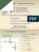 1-5 a) Divisores de Tension y b) Div Corriente
