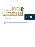 LEYES LÓGICAS EJERCICIOS RESUELTOS DE ÁLGEBRA PROPOSICIONAL PDF