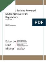 Large and Turbine Powered Multi Engine Airplanes Regulations