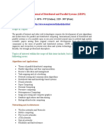 International Journal of Distributed and Parallel Systems IJDPS