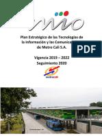 PETI-Metro Cali -2019-2022-Seguimiento 2020-Publicar-Firmado-A