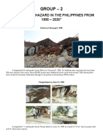 EARTHQUAKE HAZARD IN THE PHILIPPINES FROM 1990 – 2020