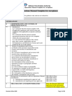 EASA Operations Manual Template for Aeroplanes-Rev.6