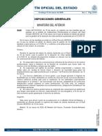 Orden ministerial de Interior