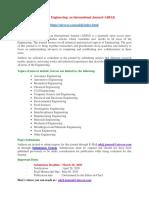 Advances in Engineering an International Journal (ADEIJ)