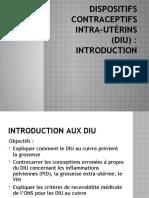 FMP Dispositifs contraceptifs intra-utérins (DIU) 15 et 16 Mars 2014