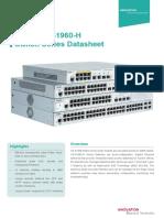 Ruijie XS-S1960-H Series Switches Datasheet 2019.11.19
