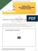Cloisons en Placo-Plâtre BA13 comment faire _ - Bâtir sa maison à moindre coût