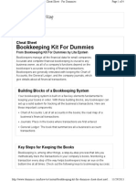 Bookkeeping Kit Cheat Sheet