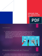 Project in French about Internet chez les adolescents vivant