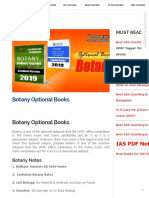 Botany Optional Books for IAS AND PCS (AUTHORS)
