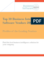 Top 10 Business Intelligence Software Vendors