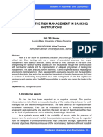 STUDY ON THE RISK MANAGEMENT
