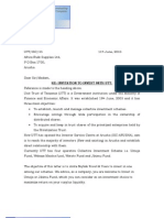 Sample Letter for All Schemes
