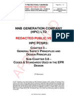 Public Version of HPC PCSR3 Sub-chapter 3.8 - Codes & Standards Used in the EPR Design